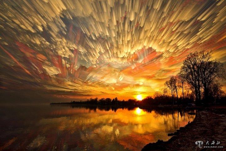 天空/[风光 ] 风光摄影:油画棒的彩绘天空日期:2013/05/24 15:51:52...