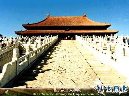 手绘北京天安门故宫