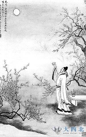 素描中秋月亮图片