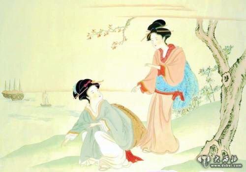 古装西域美女手绘