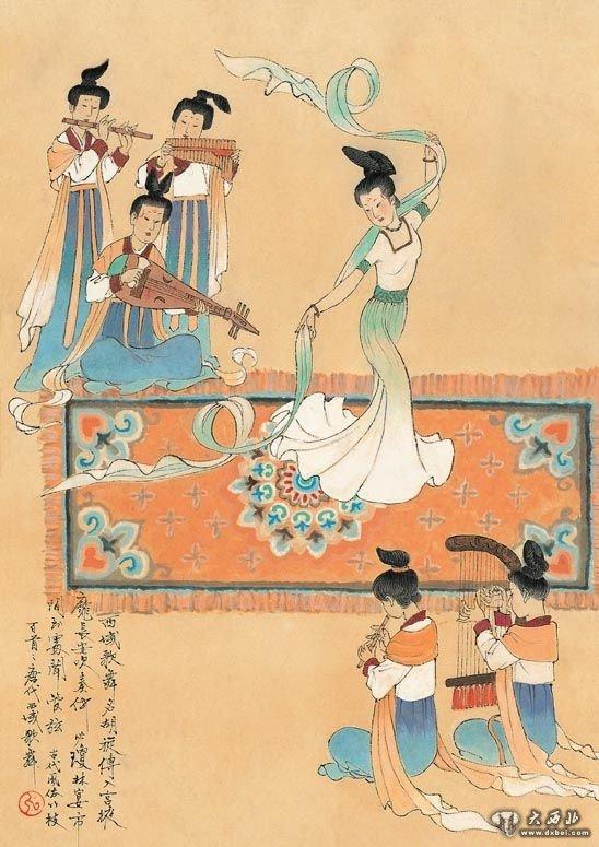 唐朝宫廷古装手绘