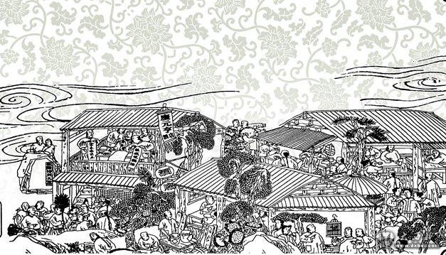古代餐馆简笔画
