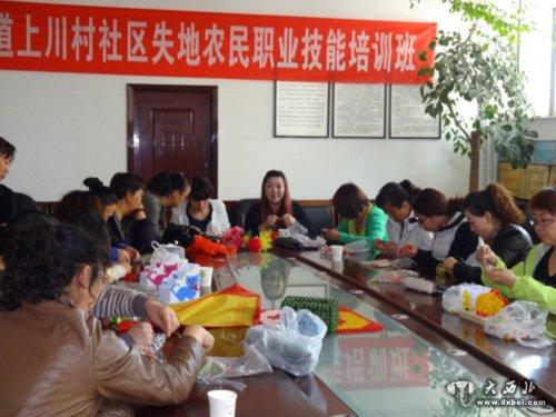 上川村社区失地农民职业技能培训班开班