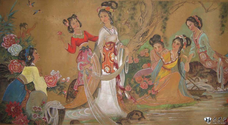 古代西域美女手绘
