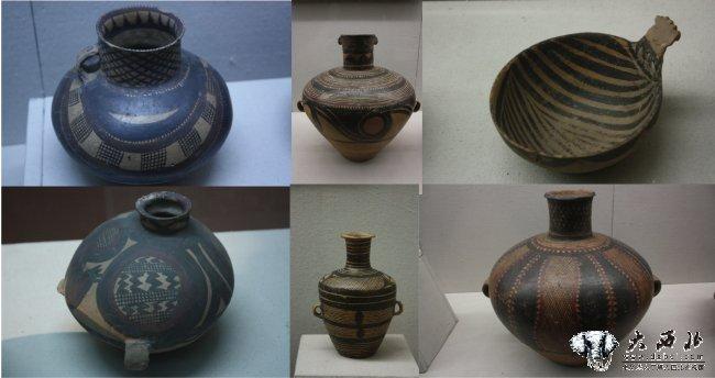 黄河流域是我国古代文化的重要发祥地之一。彩陶文化是我国古代文化的一项重要内容。兰州地处黄河上游,有着丰富的彩陶遗产。这里出图的彩陶,不但部分较广,类型较多,而且以纹饰绚丽,器形优美蜚声全国。 所谓彩陶,就是我国古代绘有彩色花纹的陶器。在新时期时代的仰韶文化、马家窑文化、屈家岭文化、大汶口文化,以及青铜时代的辛店等文化中都有发现。其主要特征是,在陶器表面有用红色和黑色颜料描绘的几何图案或动植物形花纹。既美观,又实用,简直就象工艺品。是当时人们用来盛水、饮食和烹饪的器皿,在人民生活中有着重要的作用。因而人们