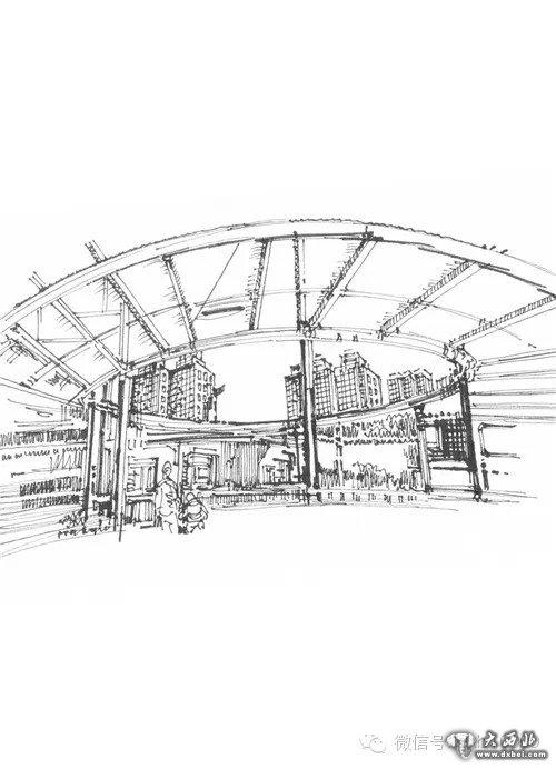 兰州火车站手绘