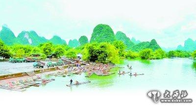 如画的桂林山水.资料图片-滴滴清水汇入绿色发展大潮